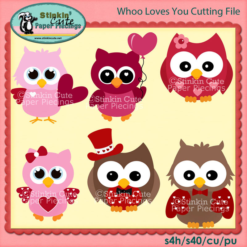 Whoo Loves You Cutting File Set