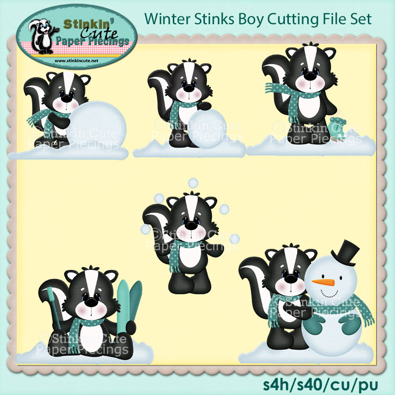 Winter Stinks Boy Cutting File Set