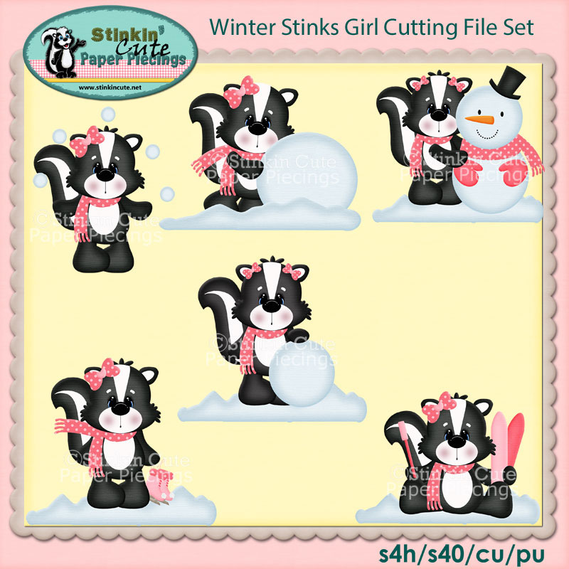 Winter Stinks Girl Cutting File Set