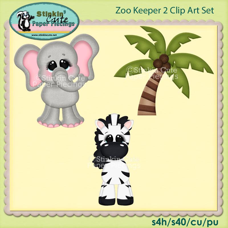 Zoo Keeper 2 Clip Art Set