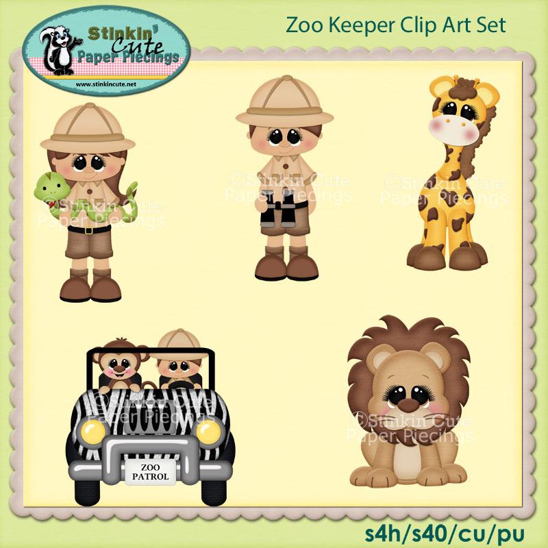 Zoo Keeper Clip Art Set
