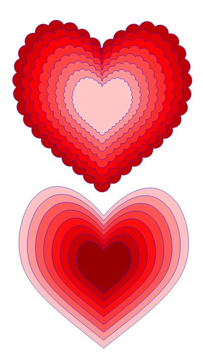 Heart Scallop Cutting File Set