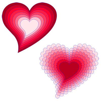 Heart w tail Scallop Cutting File Set