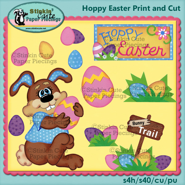 (S) Hoppy Easter Print and Cut