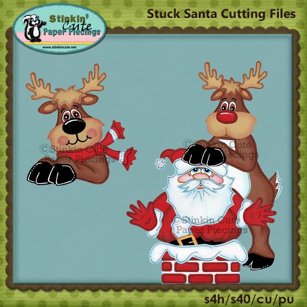 Stuck Santa Cutting File Set