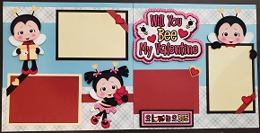 Will you be my Valentine bees page kit