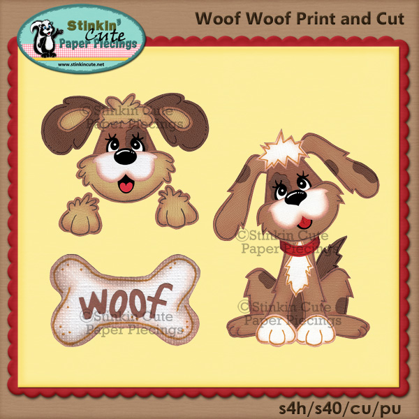 (S) Woof Woof Print and Cut