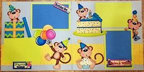 Birthday boy monkey page kit