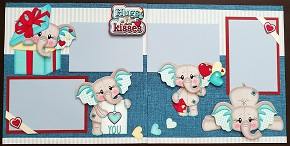 Hugs n Kisses Elephant Boy Page Kit