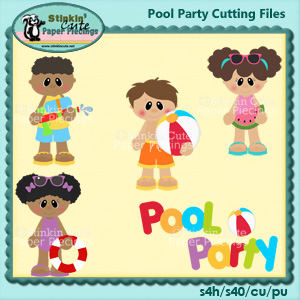 Pool Party Cutting File Set