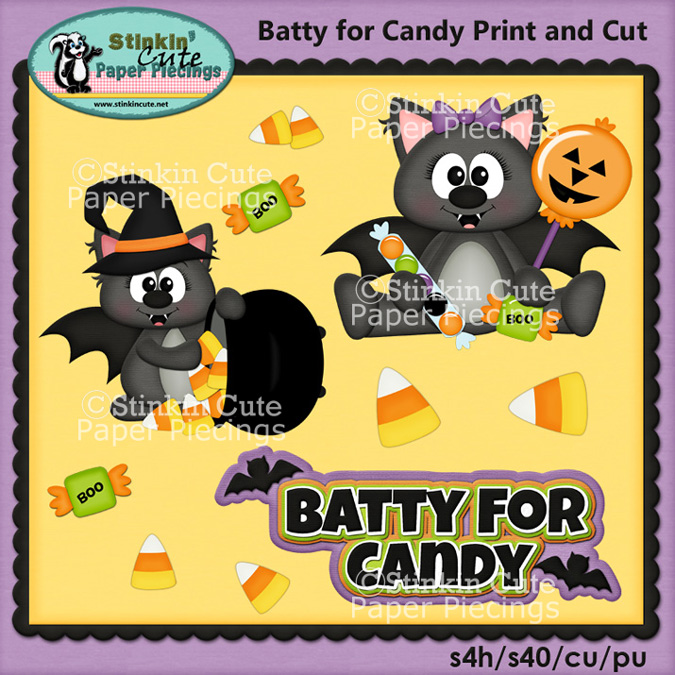 Batty for Candy Print and Cut