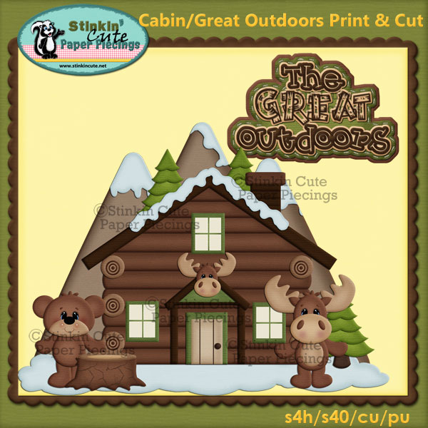 (S) Cabin The Great Outdoors Print and Cut