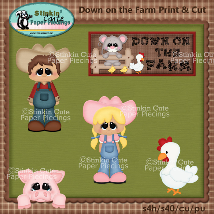Down on the Farm Print & Cut