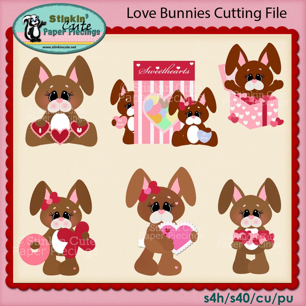 Love Bunnies Cutting File Set