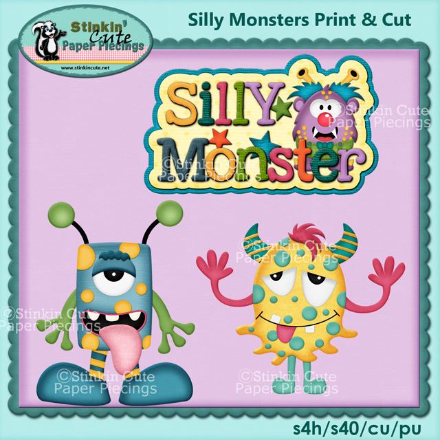 (S) Silly Monsters Print and Cut