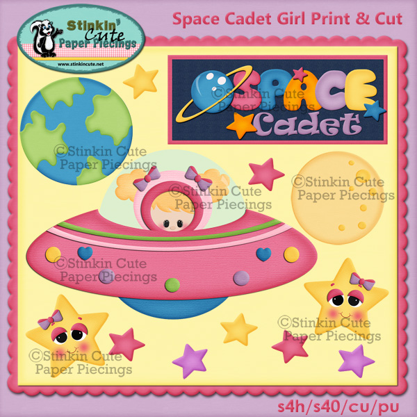 (S) Space cadet (girl) Print and Cut