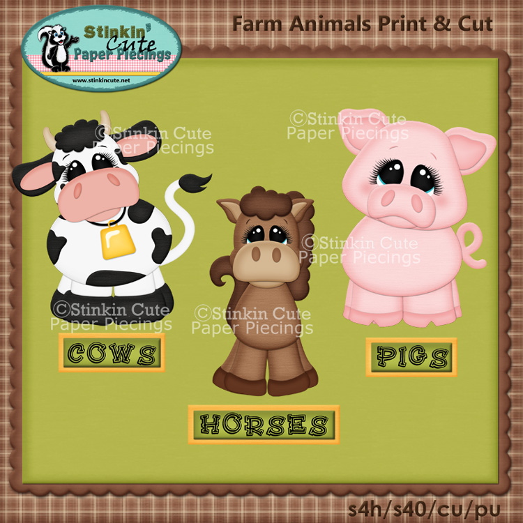 (S) Farm aniimals Print and Cut