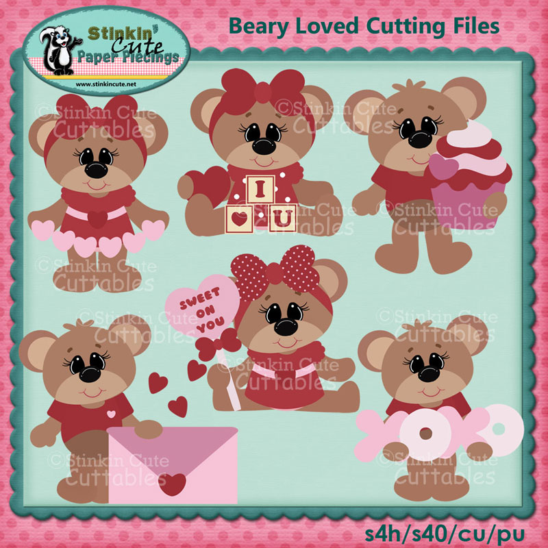 Beary Loved Cutting File Set