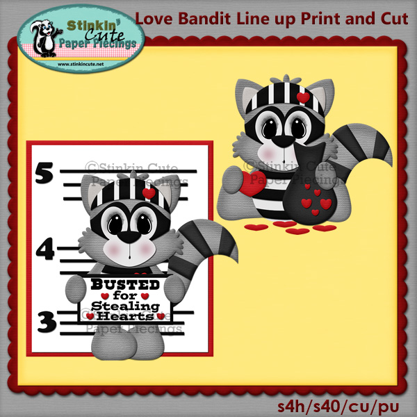 (S) Love Bandit line up Print and Cut