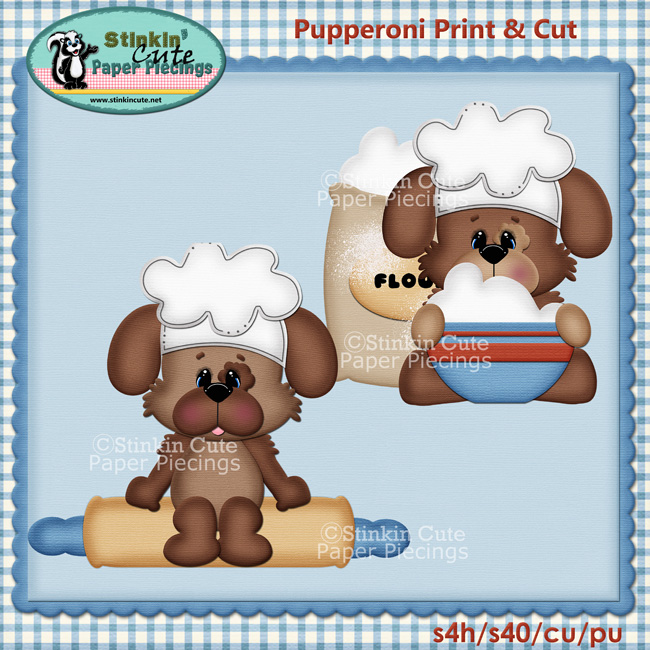 (S) Pupperoni Baking puppies Print and Cut