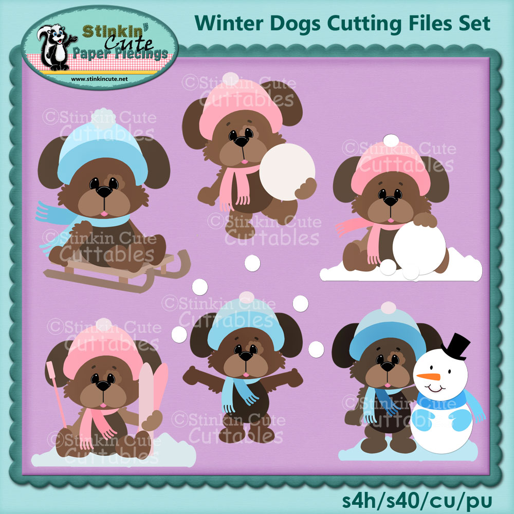Winter Dogs Cutting Files