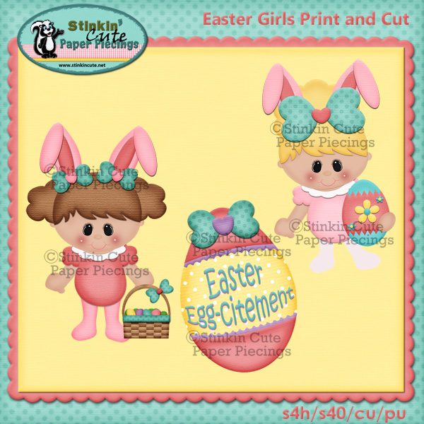 (S) Easter girls Print and Cut