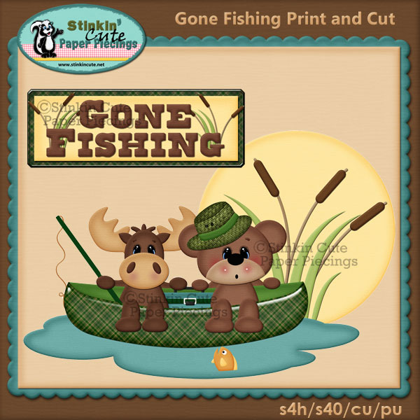 (S) Gone Fishing Print and Cut