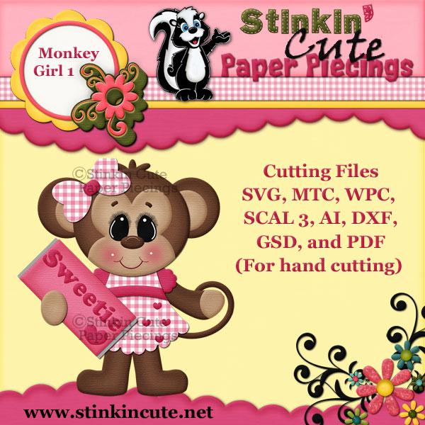 Monkey Girl 1 Cutting File Set