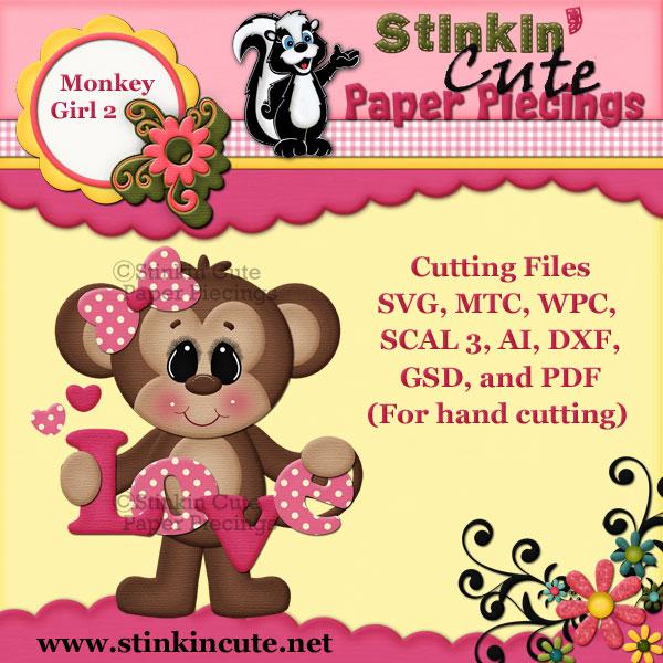 Monkey Girl 2 Cutting File Set