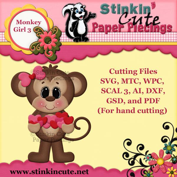 Monkey Girl 3 Cutting File Set