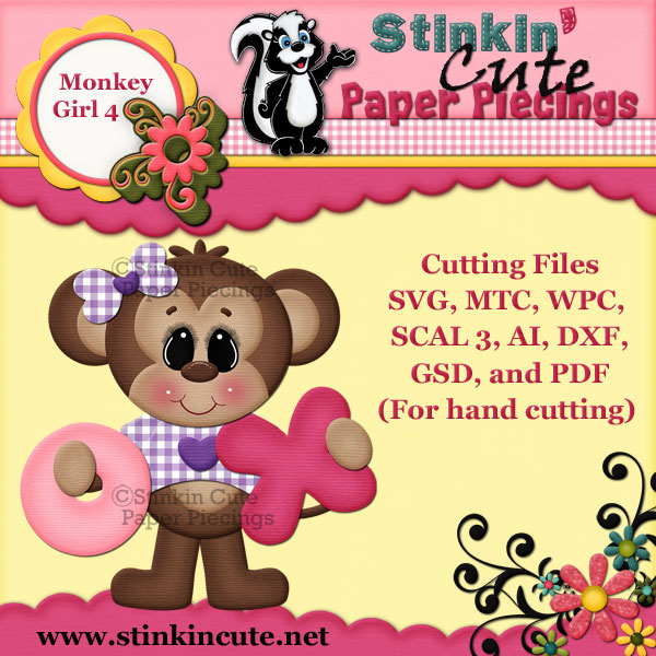 Monkey Girl 4 Cutting File Set