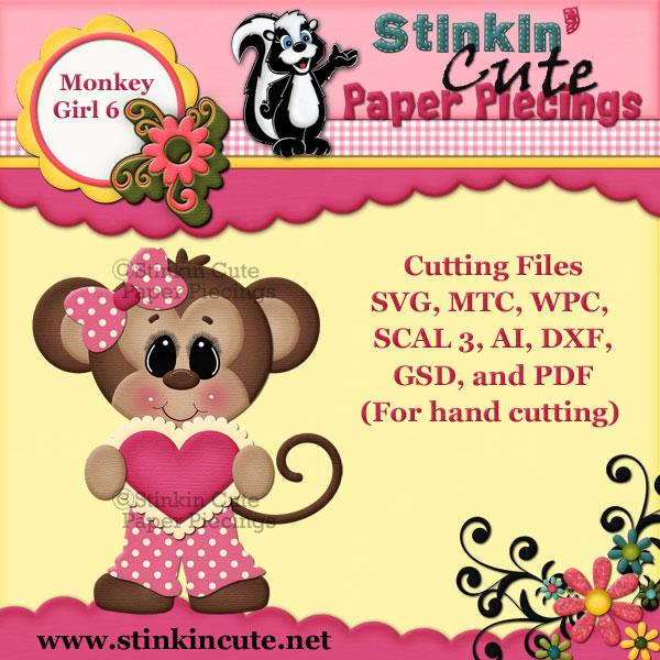 Monkey Girl 6 Cutting File Set