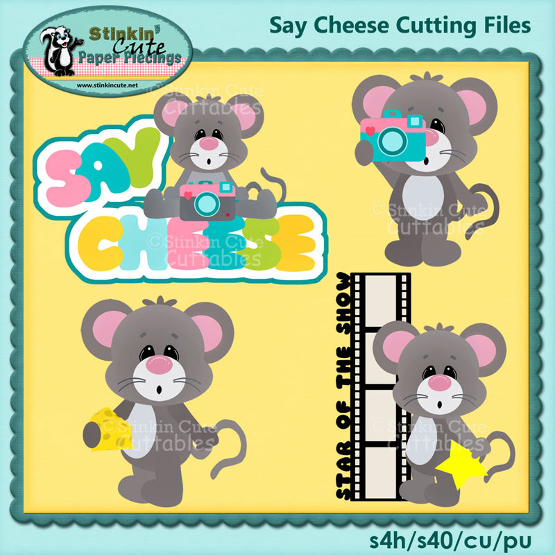 Say Cheese Cutting File Set