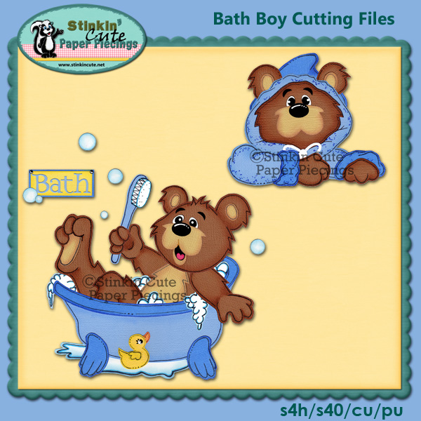 Bath Boy Bear Cutting File Set