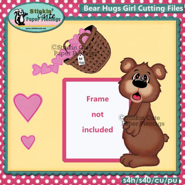Bear Hugs Girl Cutting File Set