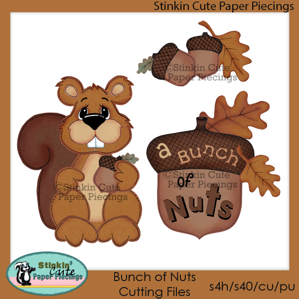 Bunch Of Nuts Cutting File Set