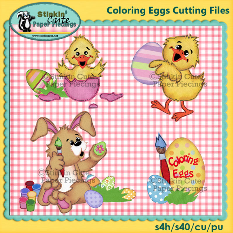 Coloring Eggs Cutting File Set