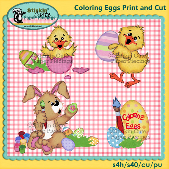 (S) Coloring Eggs Print and Cut