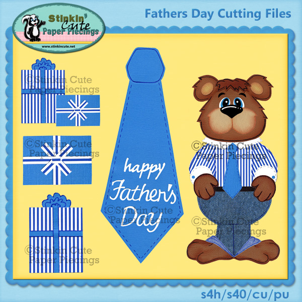 Fathers Day Bears Cutting Files