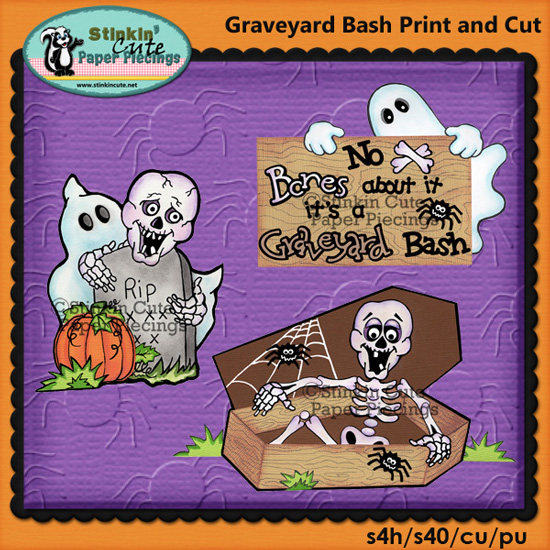 (S) Graveyard Bash Print and Cut