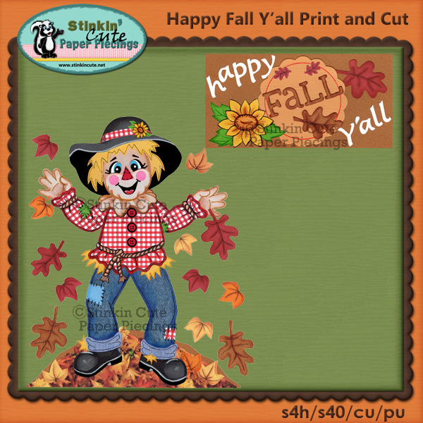 (S) Happy Fall Y'all Print and Cut