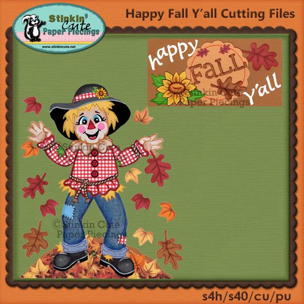 Happy Fall Y'all Cutting Files