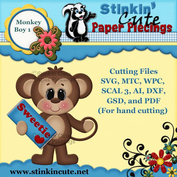 Monkey Boy 1 Cutting File Set