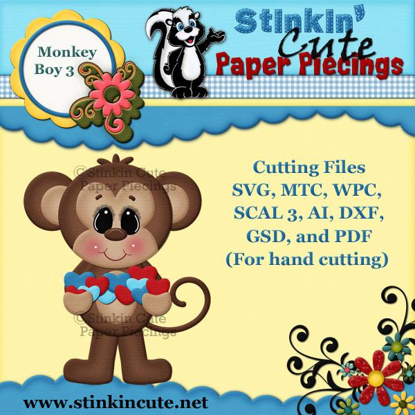 Monkey Boy 3 Cutting File Set