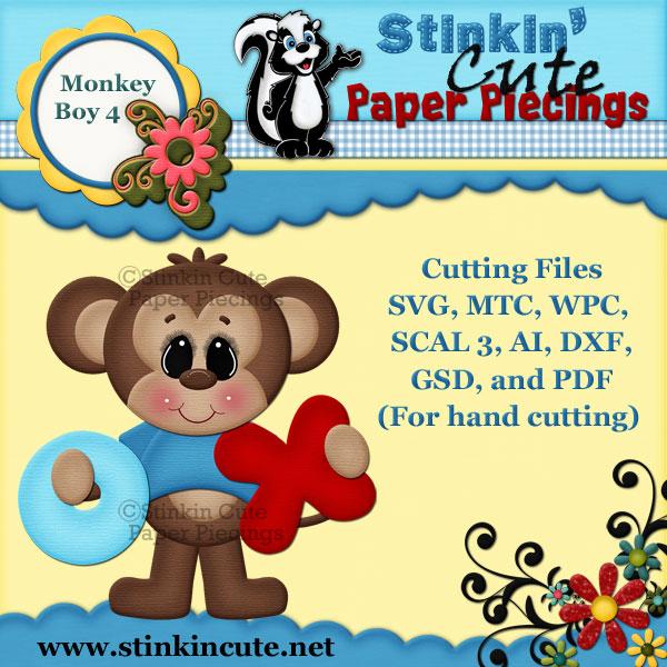 Monkey Boy 4 Cutting File Set