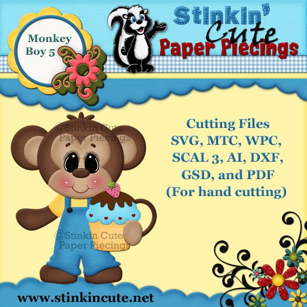 Monkey Boy 5 Cutting File Set