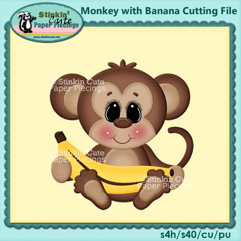 Monkey with Banana Cutting File