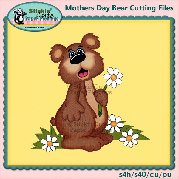 Mothers Day Bear Cutting Files