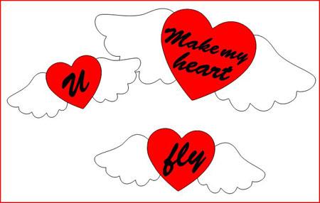 U make my heart fly Cutting File Set